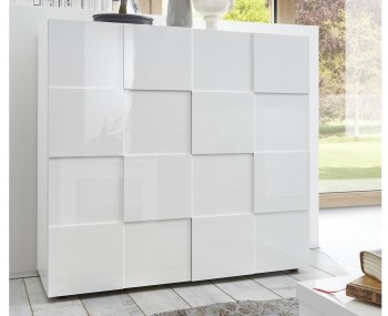 Dama 2 Door High Gloss Storage Unit
