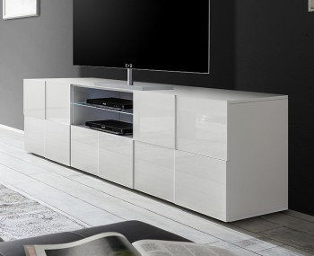 Dama 2 Door 1 Drawer High Gloss TV Unit