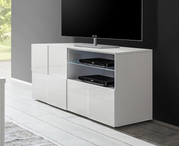 Dama 1 Door 1 Drawer High Gloss TV Unit