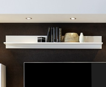 Emily White High Gloss Wall Shelf