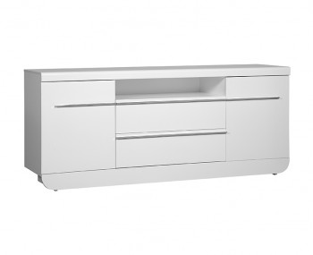 Coro White Gloss 2 Door 2 Drawer Sideboard
