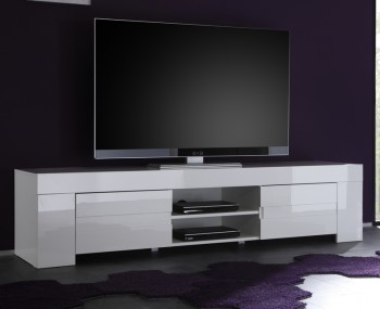 EOS Large White High Gloss TV Unit