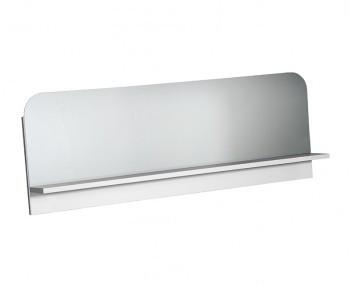 Coro White Gloss Shelved Mirror