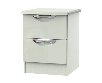 Halifax Kaschmir Gloss 2 Drawer Bedside Chest