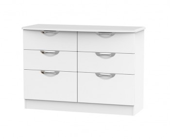 Halifax White Matt 6 Drawer Midi Chest