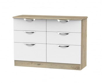 Halifax Grey Bordeaux 6 Drawer Midi Chest