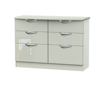 Halifax Kaschmir Gloss 6 Drawer Midi Chest