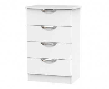 Halifax White Matt 4 Drawer Midi Chest