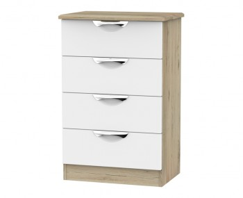 Halifax Grey Bordeaux 4 Drawer Midi Chest