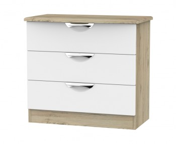 Halifax Grey Bordeaux 3 Drawer Chest