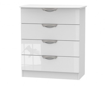 Halifax White High Gloss 4 Drawer Chest