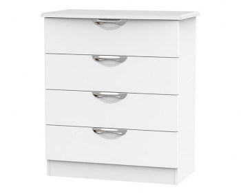 Halifax White Matt 4 Drawer Chest