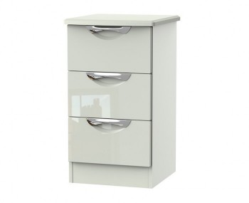 Halifax Kaschmir Gloss 3 Drawer Bedside Chest