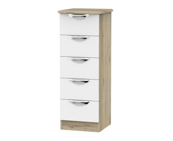 Halifax Grey Bordeaux 5 Drawer Tallboy Chest