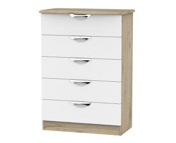 Halifax Grey Bordeaux 5 Drawer Chest