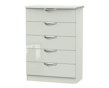 Halifax Kaschmir Gloss 5 Drawer Chest