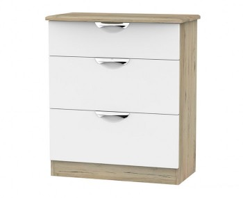 Halifax Grey Bordeaux 3 Drawer Deep Chest