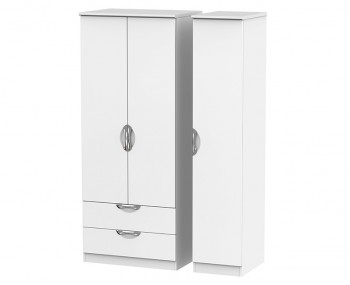 Halifax White Matt Triple Combi Wardrobe
