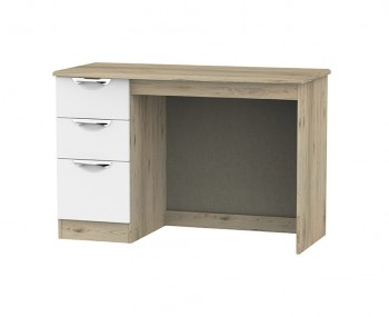 Halifax Bordeaux White Single Desk