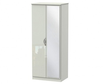 Halifax Kaschmir Gloss 2 Door Mirror Wardrobe