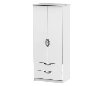 Halifax White Matt 2 Door 2 Drawer Wardrobe