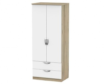 Halifax Bordeaux White 2 Door 2 Drawer Wardrobe