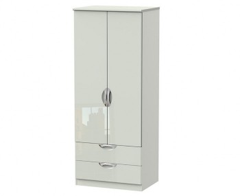 Halifax Kaschmir Gloss 2 Door 2 Drawer Wardrobe