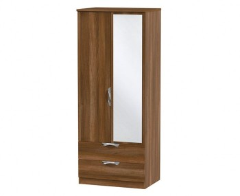 Halifax Noche 2 Door 2 Drawer Mirrored Wardrobe