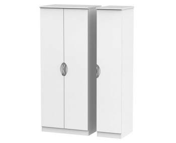 Halifax White Matt 2 Door Triple Wardrobe