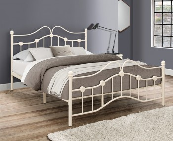 Canterbury Cream Metal Bed