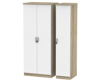 Halifax Grey Bordeaux 2 Door Triple Wardrobe