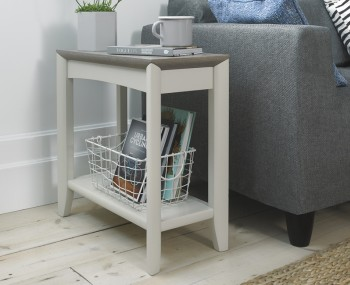 Bergen Oak & Soft Grey Side Table
