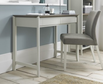 Bergen Oak & Soft Grey Desk