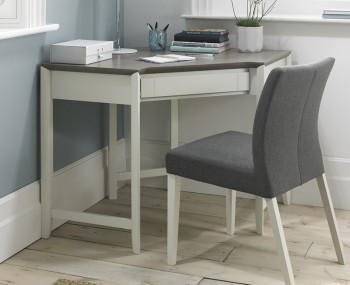 Bergen Oak & Soft Grey Corner Desk