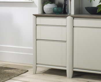 Bergen Oak & Soft Grey Cabinet