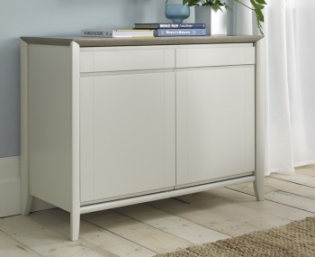 Bergen Oak & Soft Grey Narrow Sideboard