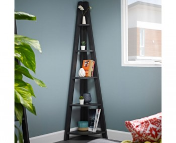 Kiliko Wooden Ladder Corner Bookcase
