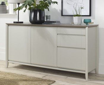Bergen Oak & Soft Grey Wide Sideboard