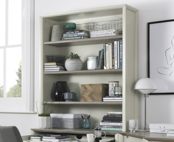 Bergen Oak & Soft Grey Wide Top Unit