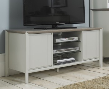 Bergen Oak & Soft Grey Entertainment Unit
