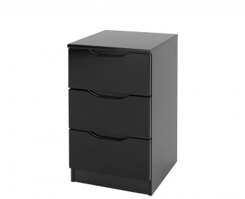 Vogue 3 Drawer High Gloss Bedside Chest *Special Offer*