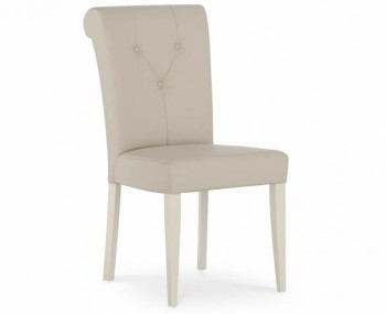 Montreux Antique White and Ivory Bonded Leather Dining Chair - Set of 2 *Special Offer*