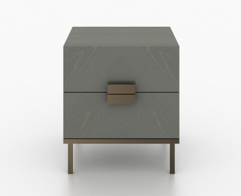Primrose Soft Grey 2 Drawer Bedside Table