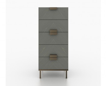 Primrose Soft Grey 4 Drawer Narrow Chest