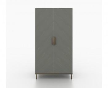 Primrose Soft Grey 2 Door Wardrobe