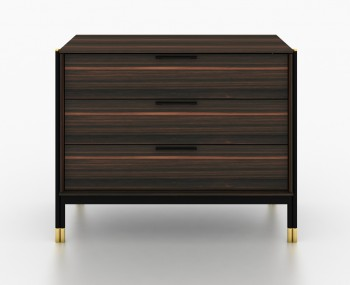 Bali Ebony 3 Drawer Chest