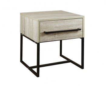 Conrad Silver Oak 1 Drawer Bedside Table