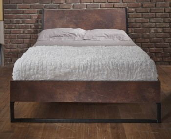 Carlos Copper Wooden Bed Frame