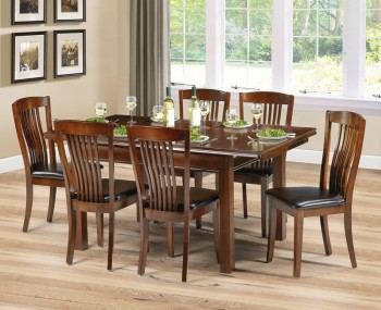 Canterbury Mahogany Extending Dining Table and Chairs