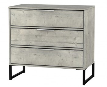 Carlos Concrete 3 Drawer Chest